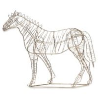 Kate and Laurel Leandra Geometric Horse Sculpture in Silver