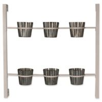 Kate and Laurel Groves Herb Garden 6-Pot Wall Planter in White