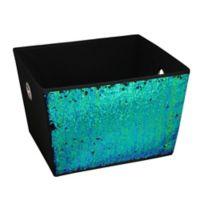 Home Basics® Large Sequined Storage Bin in Mermaid/Black
