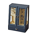 Quin 2-Door Cabinet Jewelry Case in Navy