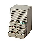 Quin Deluxe Jewelry Case in Grey
