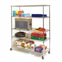 Seville Classics 5-Tier NSF Wire Shelving with Wheels