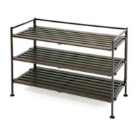 Seville Classics 3-Tier Wood Composite Shoe Rack