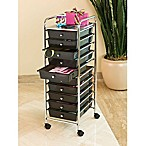 Seville Classics 10-Drawer Organizer in Black