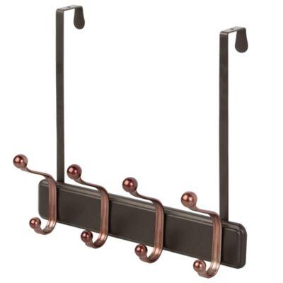IDesign® 8 Hook Over The Door Rack In Bronze