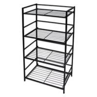 Flipshelf Wide 4 Shelf Unit in Black