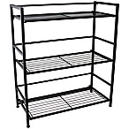 Flipshelf Wide 3 Shelf Unit in Black