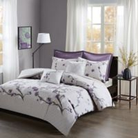 Madison Park Holly Full/Queen Duvet Cover Set in Purple