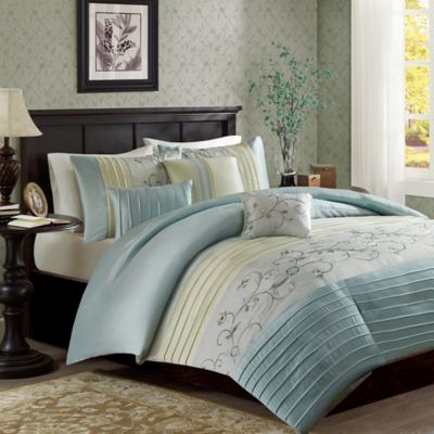 High Quality Madison Park Serene Full/Queen Duvet Cover Set In Aqua Awesome Ideas