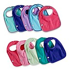 10-Pack Waterproof Multicolor Girl's Bibs
