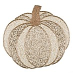 Beaded Pumpkin Placemat in White