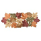 Beaded Leaf 36-Inch Table Runner in Red