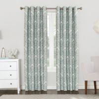 Sun Zero Clora 84-Inch Grommet Top Room Darkening Window Curtain Panel in Aqua