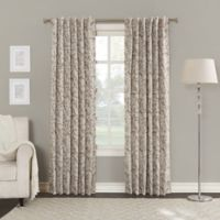 Sun Zero Keiko 84-Inch Rod Pocket/Back Tab Room Darkening Window Curtain Panel in Cream