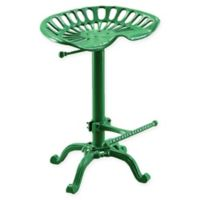 Carolina Cottage Hunter Adjustable Tractor Seat Stool in Green