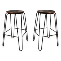 Carolina Cottage Ethan Bar Stools in Elm (Set of 2)