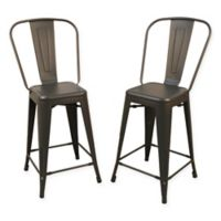 Carolina Cottage Adeline 24-Inch Metal Counter Stool (Set of 2)