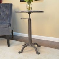 Restoration Adjustable Accent Table in Bronze