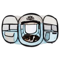Petmaker 33-Inch Portable Pop Up Pet Play Pen with Carrying Bag in Blue