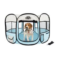Petmaker 38-Inch Portable Pop Up Pet Play Pen with Carrying Bag in Blue