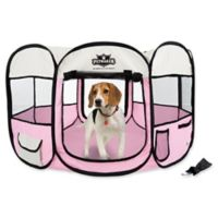 Petmaker 38-Inch Portable Pop Up Pet Play Pen with Carrying Bag in Pink
