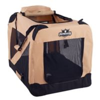 Petmaker 1-Door Portable Large Soft Sided Pet Crate in Khaki