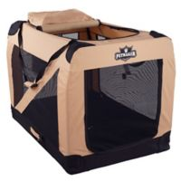 Petmaker 1-Door Portable X-Large Soft Sided Pet Crate in Khaki