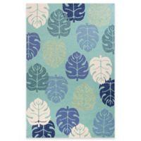 KAS Harbor Palms 2-Foot x 3-Foot Indoor/Outdoor Accent Rug in Turquoise