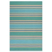 KAS Harbor Stripes 7-Foot 6-Inch x 9-Foot 6-Inch Indoor/Outdoor Area Rug in Ocean