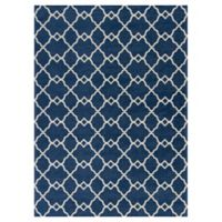 KAS Retreat Layla 3-Foot 3-Inch x 5-Foot 3-Inch Area Rug in Navy