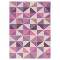 KAS Retreat Kaleidoscope 2-Foot 2-Inch x 3-Foot 9-Inch Accent Rug in Ivory/Pink