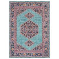 Surya Daphne 5-Foot 3-Inch x 7-Foot 3-Inch Area Rug in Teal
