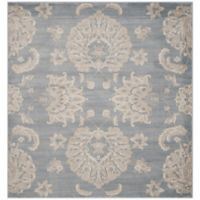 Safavieh Vintage Guiliana 6-Foot 7-Inch Square Area Rug in Light Blue/Ivory
