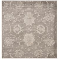 Safavieh Vintage Cameron 6-Foot 7-Inch Square Area Rug in Grey/Ivory