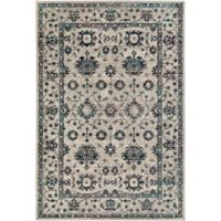 Surya Everton Floral 5-Foot 3-Inch x 7-Foot 3-Inch Area Rug in Grey