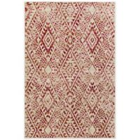 Surya Everton Global Diamonds 5-Foot 3-Inch x 7-Foot 3-Inch Area Rug in Red