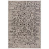 Surya Everton Classic Distressed Floral 5-Foot 3-Inch x 7-Foot 3-Inch Area Rug in Grey