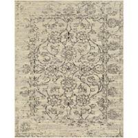 Surya Everton Classic Distressed Floral 7-Foot 10-Inch x 9-Foot 10-Inch Area Rug in Cream