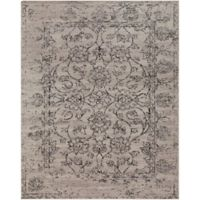 Surya Everton Classic Distressed Floral 7-Foot 10-Inch x 9-Foot 10-Inch Area Rug in Grey