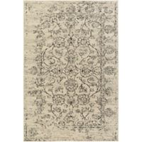 Surya Everton Classic Distressed Floral 8-Foot 10-Inch x 12-Foot 9-Inch Area Rug in Cream