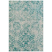 Surya Everton Damask Medallions 5-Foot 3-Inch x 7-Foot 3-Inch Area Rug in Teal