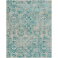 Surya Everton Damask Medallions 7-Foot 10-Inch x 9-Foot 10-Inch Area Rug in Teal