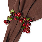 Iridescent Berry Napkin Rings (Set of 4)