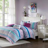 Intelligent Design Joni 4-Piece Twin/Twin XL Comforter Set in Purple