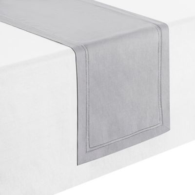 Waterford® Linens Corra 70 Inch Table Runner In Platinum