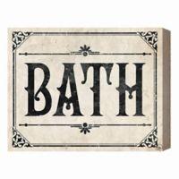 Rustic Bath Paper 16-Inch x 20-Inch Canvas Wall Art
