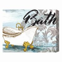 Bath Tub 16-Inch x 20-Inch Canvas Wall Art