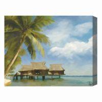 "Astra ""Tropical Beach House"" Canvas 16-Inch x 20-Inch Wall Art"