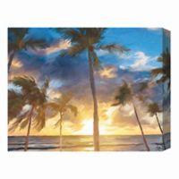 Sunset Beach 16-Inch x 20-Inch Canvas Wall Art