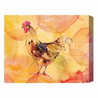 Inked Rooster 16-Inch x 20-Inch Canvas Wall Art